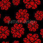 Doily Flowers Seamless Vector Pattern Design