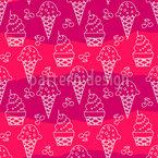 冰淇淋锥形剪影 无缝矢量模式设计