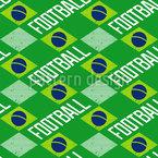 Brazilian Football Fan Seamless Vector Pattern Design