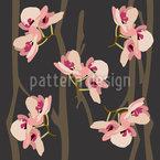Wilde Orchideen Nahtloses Vektormuster