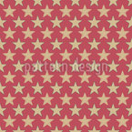 Shining Vintage Stars Seamless Vector Pattern Design