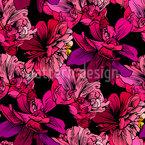 Handgezeichnete Blüten Nahtloses Vektormuster