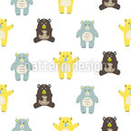 Baby Bears for Cuddle Seamless Vector Pattern Design