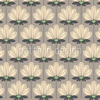 Retro Blumenornamente Musterdesign
