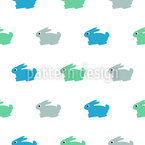 Bunnies for Cuddle Seamless Vector Pattern Design