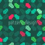 Folhas de azevinho geom Design de padrão vetorial sem costura