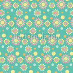 Graphical Suns Seamless Pattern