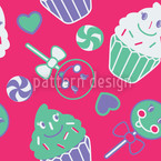 Happy Dessert Rose Motif Vectoriel Sans Couture