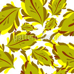 Graphical Leaves and Floral Ornaments Repeating Pattern