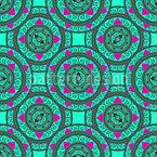 オリエンタル曼荼羅サークル シームレスなベクトルパターン設計