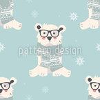 Niedliche Polarbären Nahtloses Vektor Muster