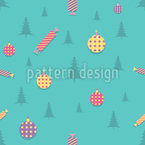 Christmas Decorations Vector Pattern