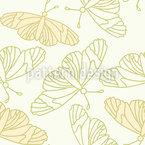 Zarte Schmetterlings Silhouetten Nahtloses Vektormuster
