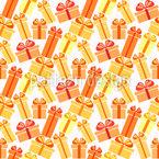 Sonnige Geschenk-Boxen Nahtloses Muster