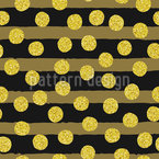 Brush Stripes And Ornate Dots Seamless Vector Pattern Design