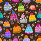 Winter Beanies Repeating Pattern