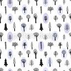 Handgezeichnete Bäume Nahtloses Vektormuster