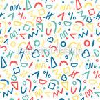 Skizzierte Formen Nahtloses Vektor Muster