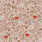 Blooming Doodle Seamless Vector Pattern Design