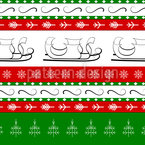 Christmas Sleigh Seamless Vector Pattern Design