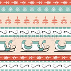 Santas Sleigh Seamless Vector Pattern Design