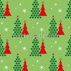 Weihnachtswald Leuchten Nahtloses Vektormuster
