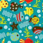 Wasserwelt Riff Nahtloses Vektormuster