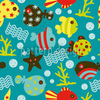 Waterworld Reef Seamless Vector Pattern Design