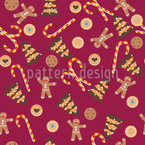 Christmas Bakery Joy Seamless Vector Pattern Design