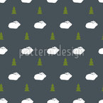 Trees And Bunnies Pattern Design