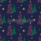 Um Natal Muito Funky Design de padrão vetorial sem costura