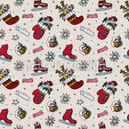 Christmas Fun Seamless Vector Pattern