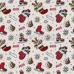 Weihnachtsspass Nahtloses Vektor Muster