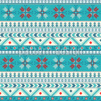 Dotted Christmas Seamless Vector Pattern Design
