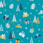 Geschenke Des Winters Nahtloses Vektormuster