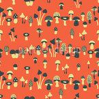 Familie der Pilze Nahtloses Muster