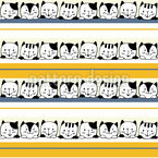 Kätzchen und Streifen Nahtloses Vektormuster