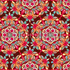 Reich verziertes Blumen Mandala Vektor Muster