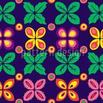 Rund Im Blumengrund Rapportiertes Design
