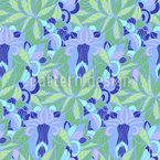 Ice Flower in Jungle Repeat Pattern