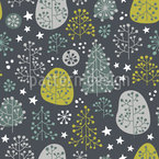 Scandinavian Forest Seamless Vector Pattern Design