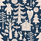 Fairytale Forest Seamless Vector Pattern Design