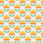 Graphical Retro Flowers Vector Design