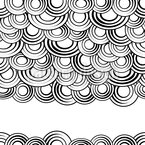 Ink Circle Clouds Seamless Vector Pattern Design