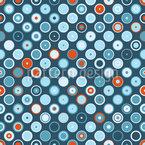 Rowanberry Winter Dots Seamless Vector Pattern Design