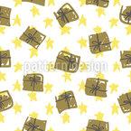 Geschenkschachteln und Sterne Nahtloses Vektormuster