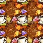 Kaffeepause Nahtloses Muster
