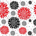 Winter Blumen Nahtloses Vektormuster