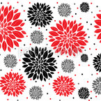 Winter Flowers Seamless Vector Pattern Design