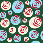 Dots and Swirls Seamless Vector Pattern Design